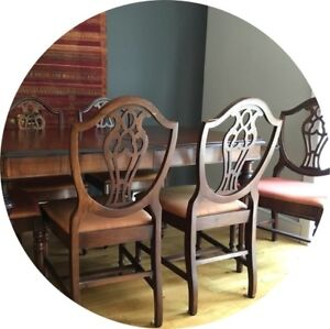 Quality Antique Table & Chairs -  available seperately