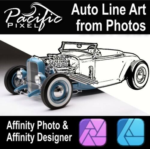 Blackline for Affinity Photo and Affinity Designer - Line Art from Your Photos