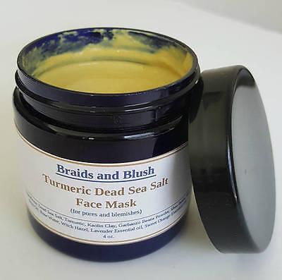 Turmeric Dead Sea Salt Face Mask - Best for Acne /Scars/ Pores / Uneven