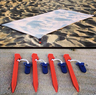 Beach Blanket Clips/Anchors to secure your beach blanket to