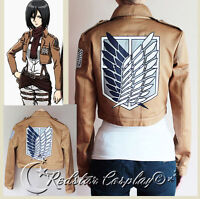 Attack on Titan Jacket Recon corps halloween cosplay costume
