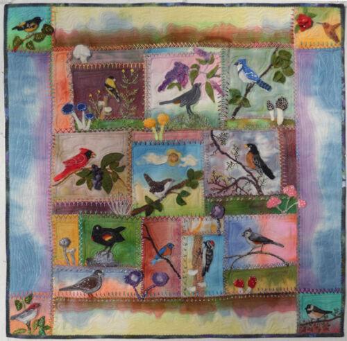 Birds in Wool, Felted Applique Pattern by Debora Konchinsky