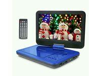 """Brand New"" 10.5"" Portable DVD Player, Blue,"