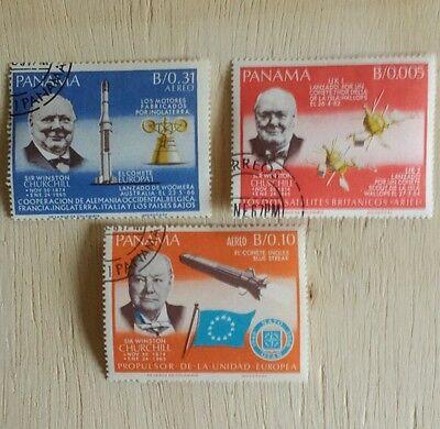 3 Stamps Panama,