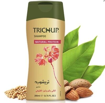Trichup Natural Protein Shampoo 200 ML USA Seller Enriched With Almond & Soy Soy Protein Shampoo