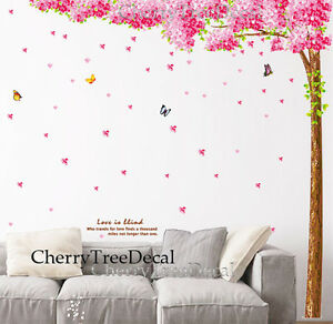 Huge Cherry Blossom Flower Tree Wall Decal Sticker Mural Home Decor Wallpaper