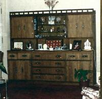 Solid Walnut China Cabinet