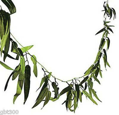 45 FT Bamboo Leaf Garland Luau Wedding Jungle Tropical Safari Theme Vine Decor](Jungle Themed Decorations)