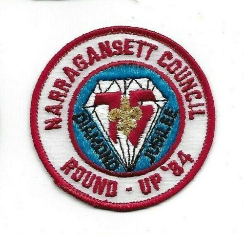 1984 Narragansett Council Round Up Diamond Jubilee Patch