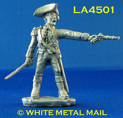 Military Lead Casting LA4501 Colonial Officer with Sword Firing Pistol