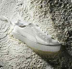 RIHANNA PUMA CREEPERS IN WHITE(GLO) - BRAND NEW