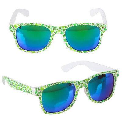 St. Patrick's Day Irish Shamrock Wayfarer Sunglasses ~NEW~