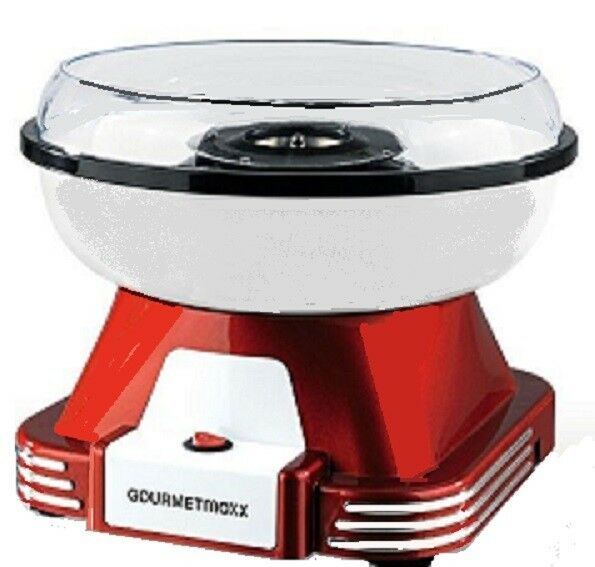 Zuckerwattemaschine Gourmetmaxx Zuckerwattegerät im Retro-Design 500W