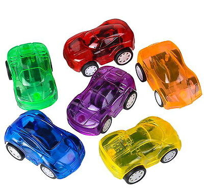 Cars Party Favor Boxes (LOT OF 6 MINI PULL BACK CARS 2.25