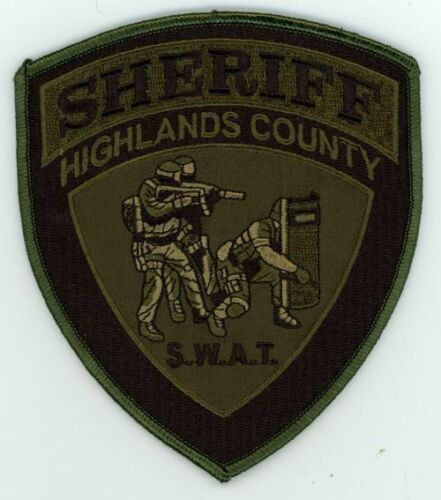 HIGHLANDS COUNTY SHERIFF FLORIDA FL NICE SUBDUED SWAT PATCH POLICE