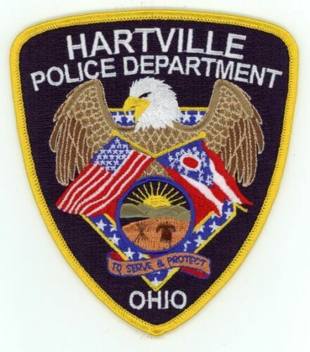 OHIO OH HARTVILLE POLICE NEW PATCH SHERIFF