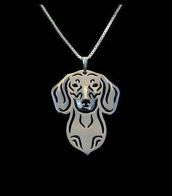 Dachshund Silver Charm Pendant Necklace, Dog Lover, Friend Gift