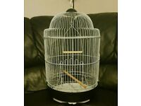 BRAND NEW Round White Bird Cage For Sale [Suitable for Budgie/Lovebird/Finch/Canaries/Parrotlet/Etc]