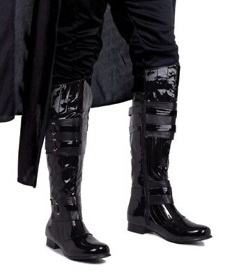 Black Star Wars Darth Vader Space Balls Cosplay Costume Mens Boots size 11 12 13 - Darth Vader Boots