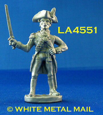 Military Lead Casting LA4551 British 14th Foot Mounted Officer holding Sword