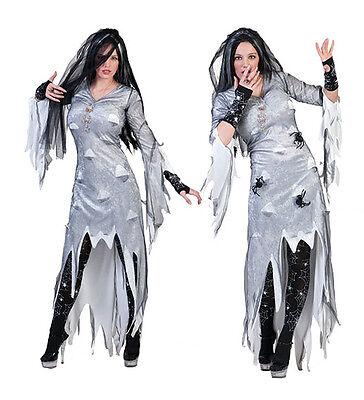 Zombie Braut m. Schleier Damen Halloween Kostüm Horror Fasching Karneval NEU