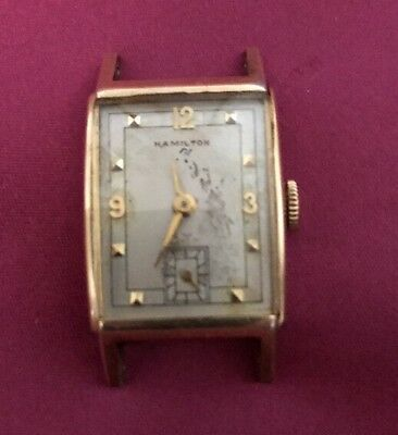 Vintage Hamilton Watch 14k Gold Filled Mens Ladies? Parts Or Repair