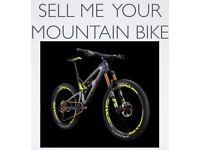 WANTED Quality nearly new Mountain Bike. Specialized. Giant. Orange. Santa Cruz. Scott. Trek etc