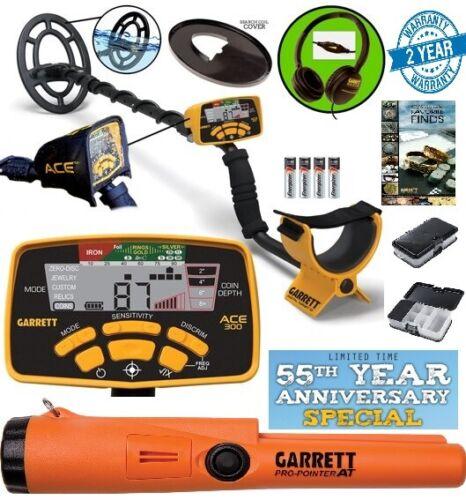 GARRETT ACE 300 Metal Detector, Pro-Pointer AT, Treasure Box 55th Anniversary