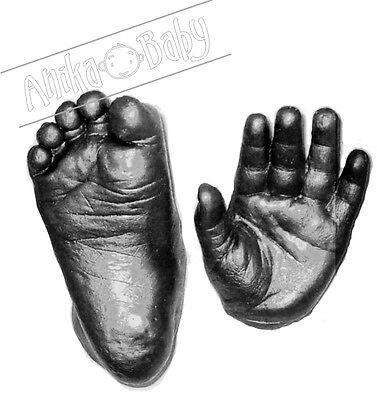 New Newborn Baby Gift 3D Casting Hand Feet Cast Handprint Footprint Kit Pewter