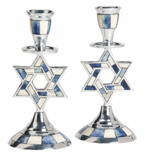 Shabbat Candle Holders - Star of David Design - Jewish Gift - Judaica Home