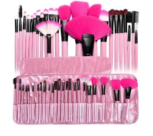 Zodaca PINK Pro 24Pcs Makeup Brush Set