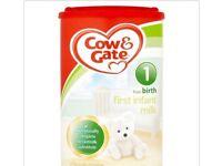 Brand New Cow & Gate baby first milk