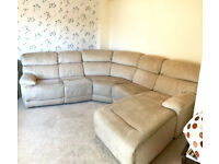 Reclining Corner / Curved Sofa with Chaise - 6 Seater
