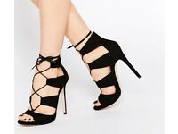 Black Newlook Lace up heels.