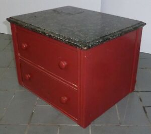 Petit bureau 2 tiroirs drawers antique ancien vintage retro