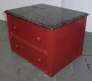 Petit bureau 2 tiroirs drawers antique ancien vintage retro