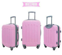 """3pcs luggage set 28""""+24""""+20"""" at $120.00 in pink and blue color"""
