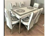 💥💥WAREHOUSE CLEARANCE SALE🔥🔥 ON EXTENDABLE DINING TABLE AND 6 CHAIRS WITH DELIVERY OPTIONS