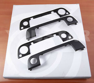Set 2x Front Outer Door Handle Cover Trims With Seals