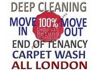 50% OFF HOUSE FLAT PROPERTY PROFESSIONAL DEEP CLEANING END OF TENANCY CARPET CLEANER LONDON DOMESTIC