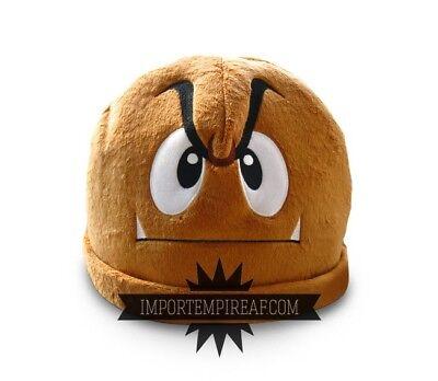 SUPER MARIO BROS. GOOMBA CAPPELLO hat cosplay koopa costume vestito hut peluche - Goomba Costume
