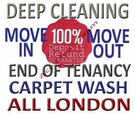 ANY DAY IMMEDIATE PROFESSIONAL END OF TENANCY CLEANING SERVICES CARPET DOMESTIC HOUSE DEEP CLEANER