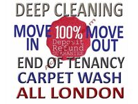 GUARANTEE YOUR DEPOSIT BACK, Professional End Of Tenancy Deep Cleaning, Free Carpet Move-In Cleaners