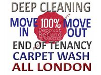 From £10 Short Notice Professional End Of Tenancy Deep Cleaning, Carpet Cleaning, Move-In Cleaners