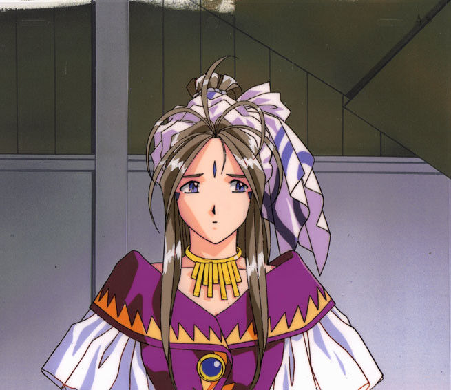 Ah! My Goddess Anime Cel Belldandy OVA #5 Animation Art AIC Fujishima Kosuke