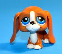 Littlest Pet Shop #222 caramel Basset Hound Dog Blue Eyes LPS