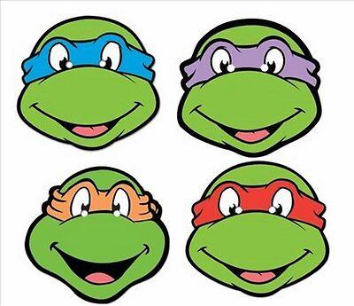Teenage Mutant Ninja Turtles Party Vier 4 Packung Tmnt Spaß Karte Gesichtsmasken ()