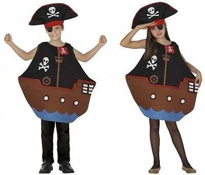 Costume Girl Boy BOAT PIRATE 7/8/9 years Child Funny NEW Cheap - Cheap Girl Pirate Costumes