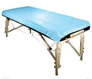 Disposable Oil & Water Proof Massage Table Sheet Blue 20pc/bag
