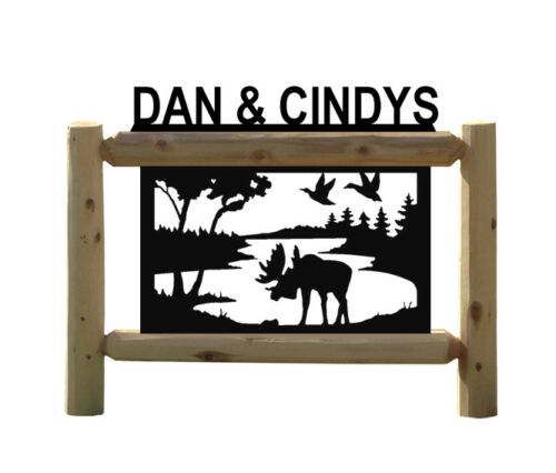 PERSONALIZED MOOSE SIGN - OUTDOOR SIGNS